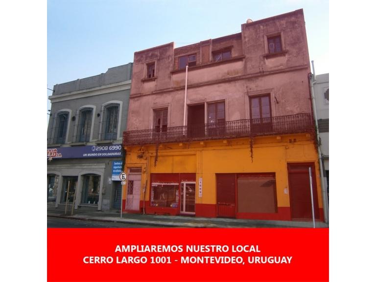 19/08/2019 El día 20 de agosto se inició la ampliación de nuestro local ubicado en Cerro Largo 1001, Montevideo.