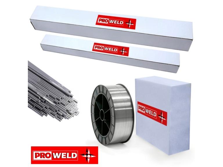 12/02/2020 - En el día de hoy recibimos una nueva importación de alambres para Mig y varillas de aporte para Tig, de acero inoxidable y aluminio, de la marca Proweld.