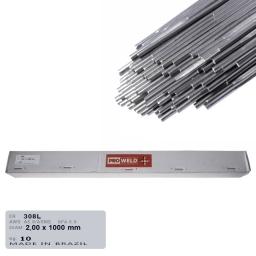Varilla de aporte Tig para acero inoxidable ER 308L de 2,0 mm.