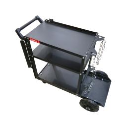 Carro 3 estantes con soporte para cilindro