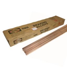 Varilla oxiacetilenica de cobre BCuP-6 de 2,40 mm. (Cobre-Plata 2%)