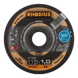 Disco de corte de 115 x 1,0 mm. XT38