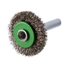 Cepillo circular ondulado 30 x 6 x 6 mm. vastago de 6,0 mm. (hilo 0,20 mm.) ERBW