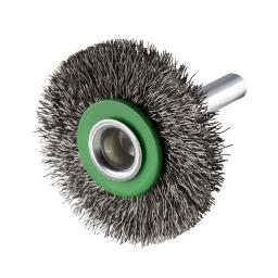 Cepillo circular ondulado 40 x 7 x 10 mm. vastago de 6,0 mm. (hilo 0,20 mm.) ERBW