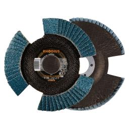 Disco flap con entalladuras de 115 mm. grano 40 VISION PRO