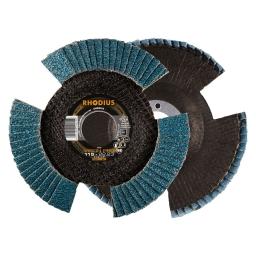 Disco flap con entalladuras de 115 mm. grano 60 VISION PRO