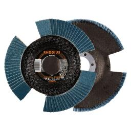 Disco flap con entalladuras de 115 mm. grano 80 VISION PRO