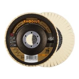 Disco pulidor con láminas de vellón de lana de 115 mm. grano D5/H40 (duro) FLS