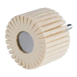 Rueda con láminas de vellón de lana de 60 x 40 x 6 mm. grano D3/H40 (duro) FLP