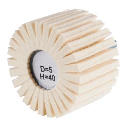 Rueda con láminas de vellón de lana de 80 x 50 x 6 mm. grano D5/H40 (duro) FLP