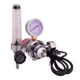 Manometro de CO2 con flujimetro y calentador (220V) marca Proweld
