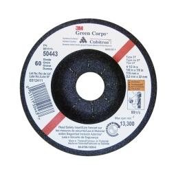 "Disco abrasivo flexible GREEN CORPS 4 1/2"" x 3,2 mm. grano 60. Marca 3M"