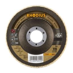 Disco pulidor con láminas de vellón de lana de 115 mm. grano D5/H25 (blando) FLS
