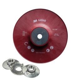 """Disco de soporte europeo 4 1/2"""" con tuerca de 14 mm. y 5/8"""" marca 3M"""