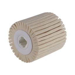 Cilindro con láminas de vellón de lana para satinadoras de 100 x 100 x 19 mm. grano D5/H25 (blando) FW
