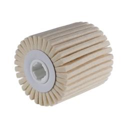 Cilindro con láminas de vellón de lana para satinadoras de 100 x 100 x 19 mm. grano D5/H40 (duro) FW