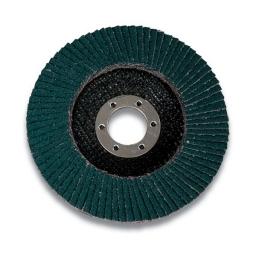 """Disco flap 4 1/2"""" x 7/8 grano 120 (546D, disco conico tipo 29) uso general. Marca 3M"""