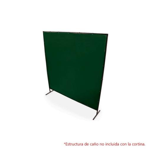 Cortina de soldar de 1,74 x 1,74 mts. color verde grado 8