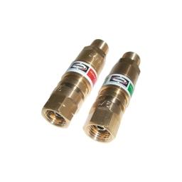 Conexión de acople rápido para manguera de oxigeno y gas combustible (el par) marca Harris