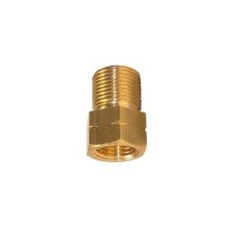 Adaptador 3/8 x 9/16 rosca izquierda p/arrestallama en manometro de acetileno