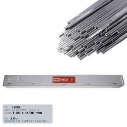 Varilla de aporte Tig para aluminio ER 1050 de 1,6 mm. (puro)