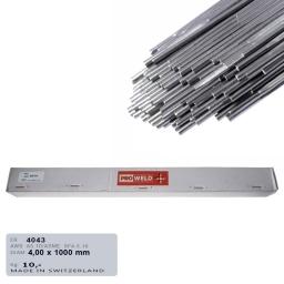 Varilla de aporte Tig para aluminio ER 4043 de 4,0 mm. (5% Si)